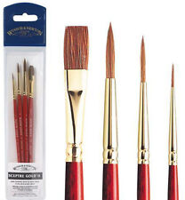 Winsor & Newton Sceptre Gold II Watercolour Brush Wallet Set - Sable Blend