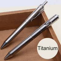 Titanium Alloy Pen Business Office Signature Gift Personal Safety Pen Fr EDC New