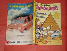 WALT DISNEY- TOPOLINO libretto- n° 1344 a - originale mondadori- anni 60/80