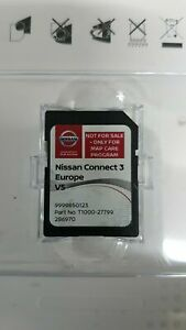 GENUINE NISSAN SAT NAV MAPS EUROPE SD CARD CONNECT 3 V5 99998 50123