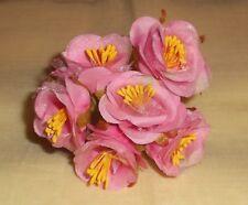 PINK Velvet millinery Vintage style 6 ROSE BUD cluster ALEXANDER dolls HTFcrafts