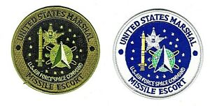 USAF PATCH UNITED STATES MARSHAL MISSILE ESCORT SPACE COMMAND POLICE PAIR