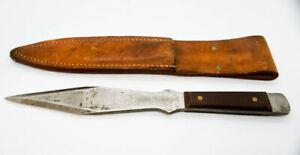 VINTAGE USA OLSON OK 409 THROWING KNIFE  & SHEATH #18