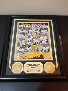 Pittsburgh Steelers Super Bowl XL 40 Highland Mint 13x16 Framed Photo Mint New