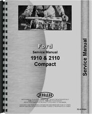 Ford 1910 2110 Compact 2 And 4 Wheel Drive Tractor Service Manual Fo S 1910