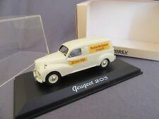 299G Norev 471012 Peugeot 203 Miko Bourse Couzon Miniatures 18 Sept 2005 1:43