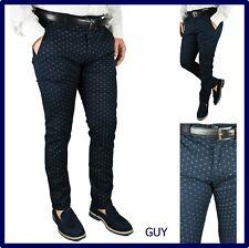pantaloni da uomo slim fit eleganti elasticizzati cotone estivi 46 48 50 52 54