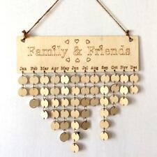 Family and Friends Wooden Reminder Hanging Plaque Calendar Planner Board