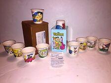 JETSONS & FLINTSTONES Dixie Cup Dispenser Hanna Barbera 1990 Mail Away In Box