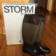 New STORM BY COUGAR MSRP $165 GREEN QUILTED RIDING EQUESTRIAN RAIN BOOTS 7