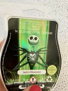 Scentsy wax Rare Bar Disney Night before Christmas Jacks Obsession Holographic