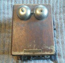 Antique Stromberg Carlson Wooden Ringer Box WORKS!