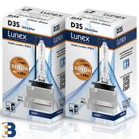 2 x D3S LUNEX Genuine XENON BULBS Headlight PK32d-5 Original 35W 6000K Ultra