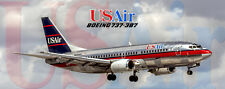 USAir Airlines Boeing 737-3B7 Handmade Photo Magnet (PMT1662)