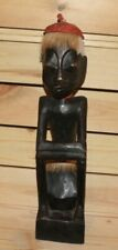 Vintage African hand carving wood boy figurine
