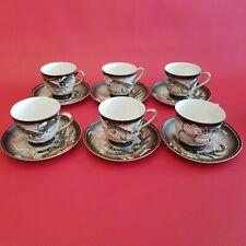 Service thé café porcelaine 6 personnes décor dragon - Dainan Kutani Japon
