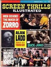 Forrest Ackerman SCREEN THRILLS ILLUSTRATED #9 (1964) Zorro, super hero movies