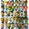 Random 10pcs Fisher-Price Little People Christmas Disney Figure Party Toy Doll