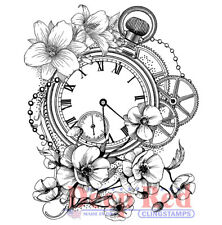 Deep Red Stamps Blossom Time Rubber Cling Stamp