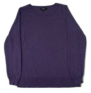 Mossimo Purple Crew Neck LS Sweater Mens  L EUC