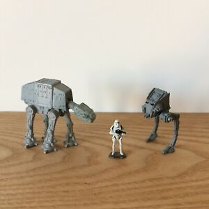 Star Wars Micro-machines Lot de 3 pièces AT-ST / AT-AT / Stormtroopers