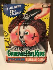 🔥HOT🔥 BBCE 1986 GARBAGE PAIL KIDS ORIGINAL SERIES 9 WAX BOX GPK OS9 🧛👨🚀