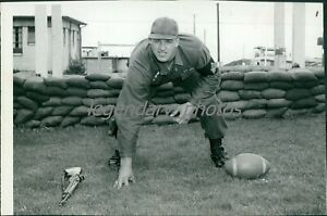 1960s Tom Mack Pro Football Hall of Famer Original News Service Photo