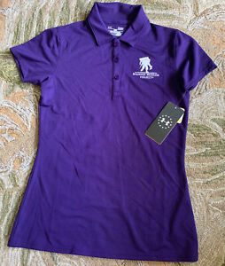 UNDER ARMOUR WOMEN'S WOUNDED WARRIOR Purple POLO SHIRT SIZE SMALL S(g)