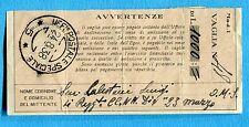 1938 UFFICIO POSTALE SPECIALE 5 guller del 24.08.38 su RICEVUTA VAGLIA. (239972)