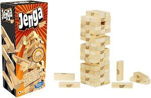 Classic JENGA Game Hasbro Stack Pull Crash Wooden Block Tower Game Mental Skill