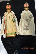 Antique Vintage Large Chalkware Statue Infant Of Prague Baby Jesus Catholic Boy