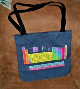 Chemical Elements Chart Polyester Beach Tote - Handbag - Purse - New -Reversible