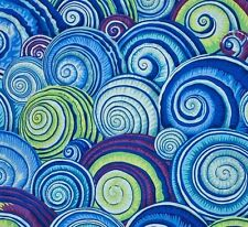 SPIRAL SHELLS by Philip Jacobs~ Kaffe Fassett~ Blue ~Fabric~1/2 yard
