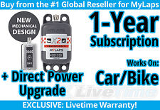 MyLaps X2 Car/Bike Direct Power Transponder w/ 1-year Subscription -AMB Flex 260