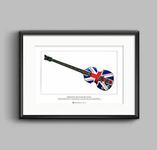 Paul McCartney's Hofner Jubilee Bass Ltd Edition Fine Art Print A3 size