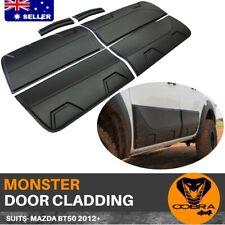 BODY MONSTER CLADDING FIT MAZDA BT50 BT-50 SIDE DOOR BLACK 2012 - 2019  MOULDS