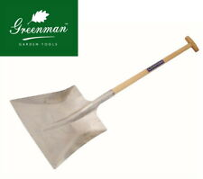 Large Square Alloy Shovel High Quality Greenman No 8 Ash T Handle for grain