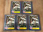 Lot Of 5 1984 Topps Glossy Inserts 3 Dan Marino Rookie RC Blue Only Rack Packs