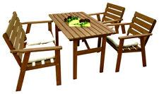 4 Tlg. Gartensitzgarnitur Gartenmöbel Sitzgruppe Holz Sitzgarnitur Tisch Bank