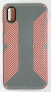 Speck - Presidio GLOSSY GRIP Case for iPhone XS Max - Gunmetal Gray/Tart Pink