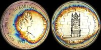 "1977 CANADA ""SILVER JUBILEE"" SILVER DOLLAR HIGH QUALITY COLOR TONED COIN"