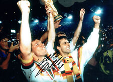 Lothar MATTHAUS Signed Autograph West Germany 16x12 World Cup Photo AFTAL COA