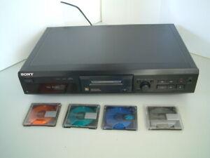 Sony MiniDisc Deck MDS JE 330 + 4 x Sony MiniDisc