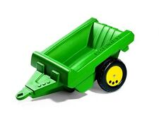 New Rolly Toys Pedal Tractor John Deere  Medium Size Green Farmer Trailer - 2+