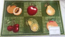 """18/""""x30/"""" BASKET WITH FRUITS Cat nonskid latex back PRINTED NYLON KITCHEN RUG"""