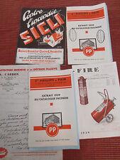 lot documents sur le matériel d'incendie pompiers ( ref 27 )