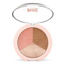 Golden Rose Baked Face Powder Trio Nude Look Highlighter Blush Bronzer Sculpting