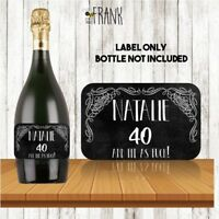 PROSECCO LABEL.40th birthday. Personalised/ Funny, rude, sarcastic, cheeky!