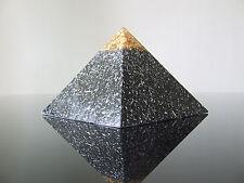 Large 12x9cm Orgone 23K Gold Zen Master Meditation Clarity Pyramid 5xDT Quartz