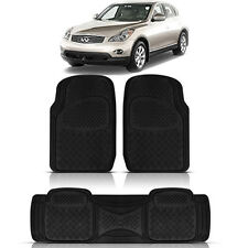 3PC HEAVY DUTY ACK RUBBER FLOOR MATS for  INFINITI FX50 QX4